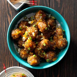 Orange-Glazed Meatballs