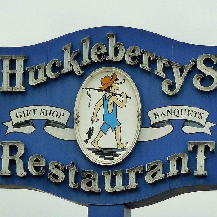 Sign for Huckleberry's Restaurant
