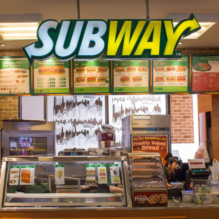 Exterior view of Subway Restaurant