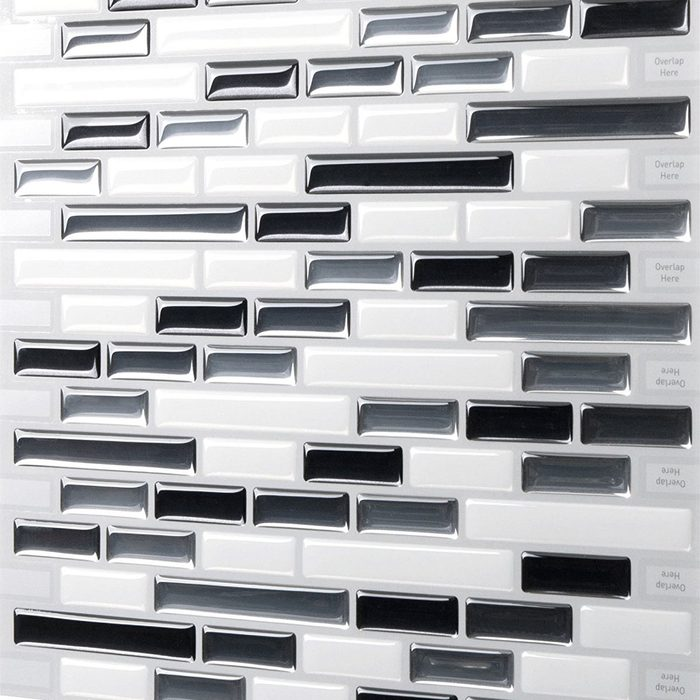 Tic Tac Tiles Premium Anti-mold Peel and Stick Wall Tiles