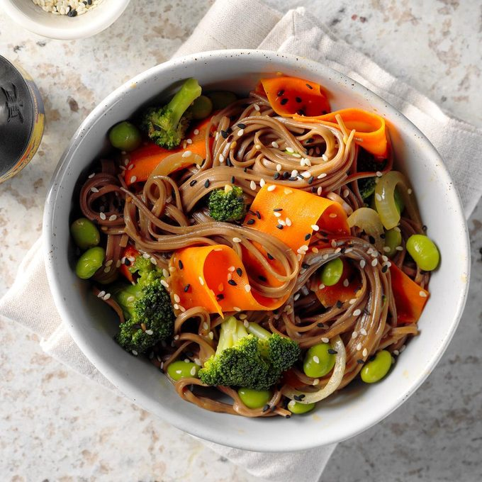 Edamame and Soba Noodle Bowl