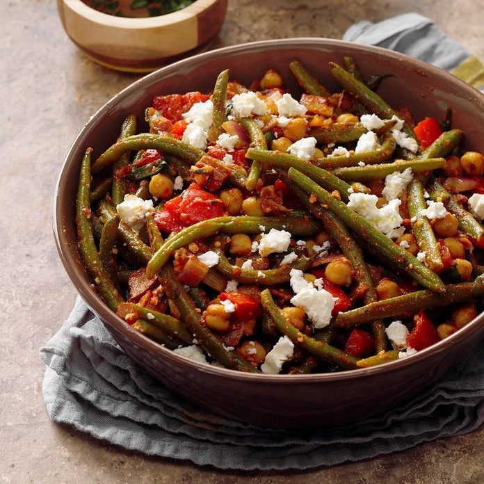 Green Beans with Smoked Turkey Bacon
