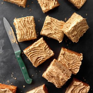 Pecan Cake with Cookie Butter Frosting