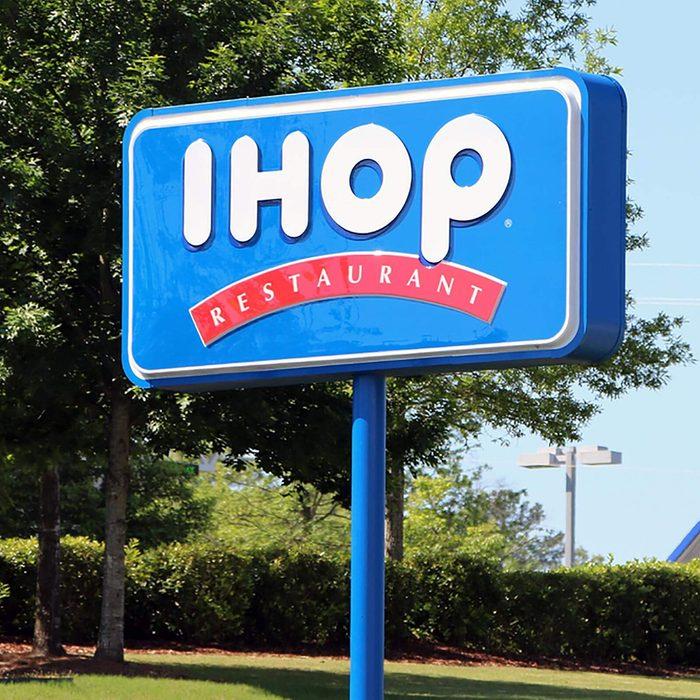 IHOP sign.
