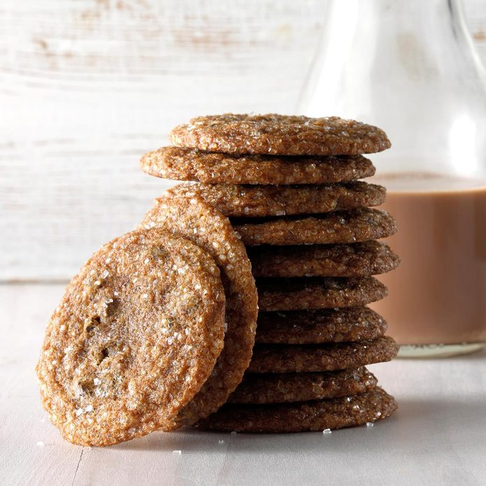 Crystallized Gingerbread Chocolate Chip Cookies