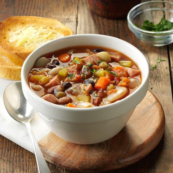 Pressure-Cooker Provencal Ham & Bean Soup