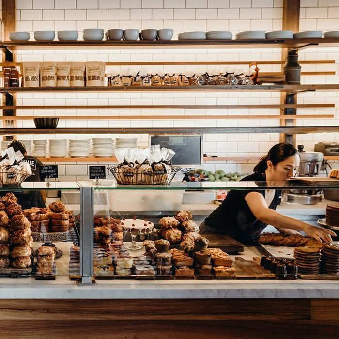 Bakery counter at Republique