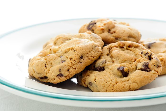 oven fresh home made chocolate chip and walnut cookies