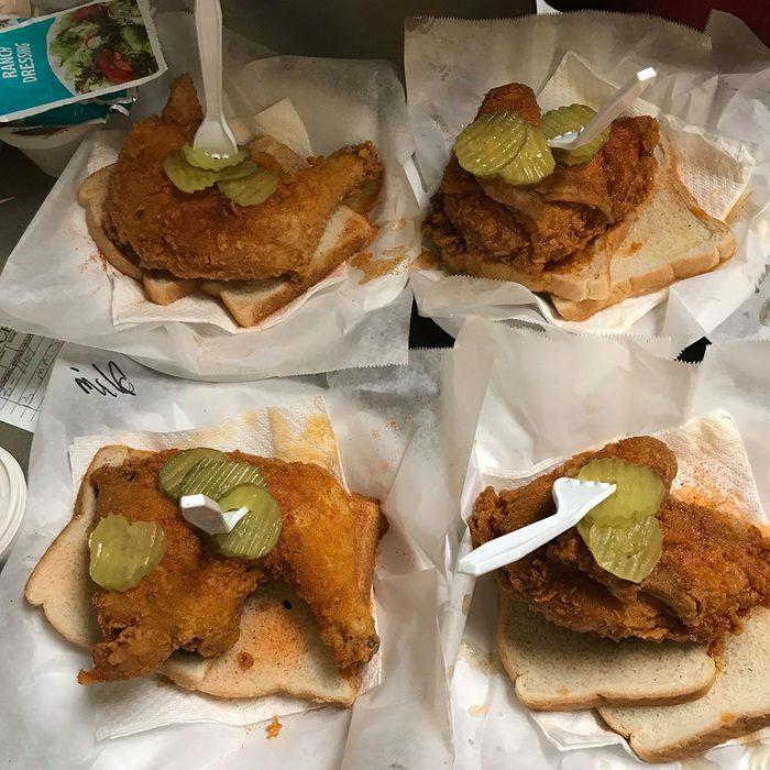 Hot fried chicken