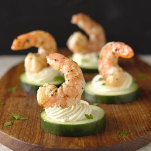 Greek Shrimp Canapes