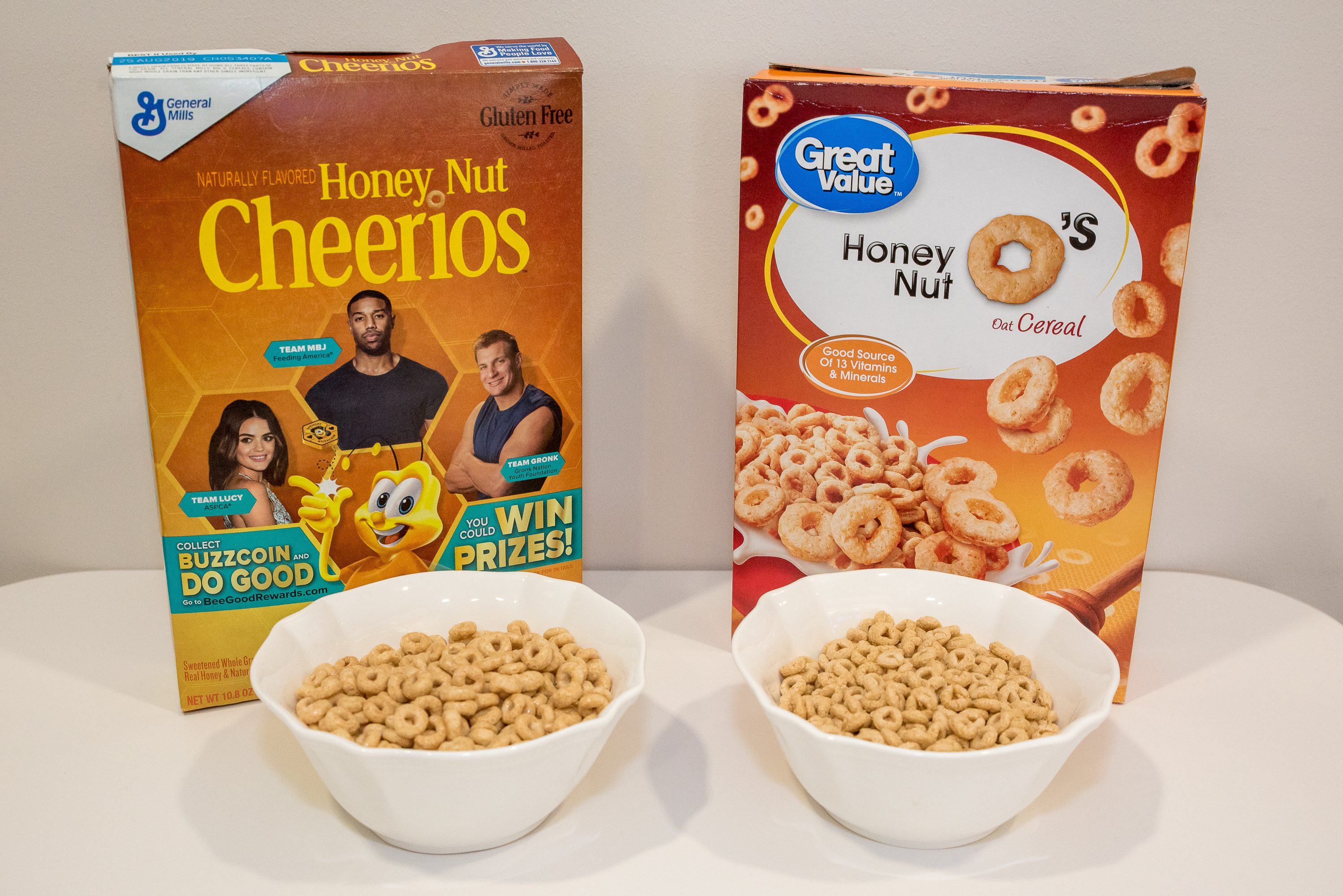 honey nut cheerios name brand vs generic cereal taste test