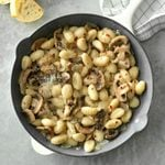 Gnocchi with Mushrooms and Onion