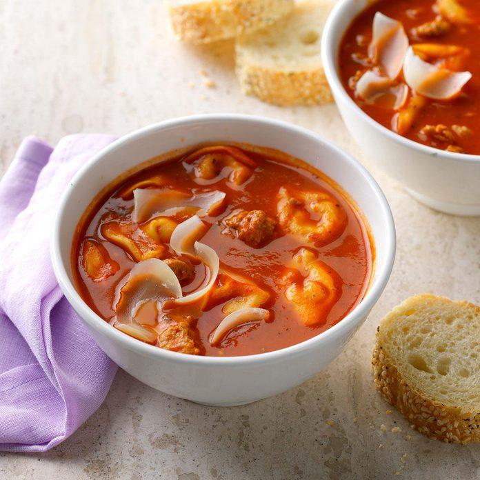 Quick Sausage Tortellini Soup