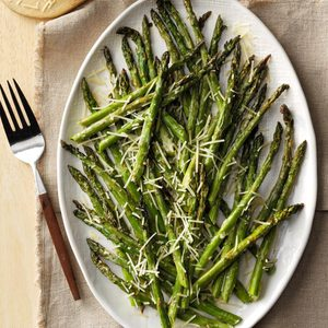 Lemon-Parmesan Broiled Asparagus