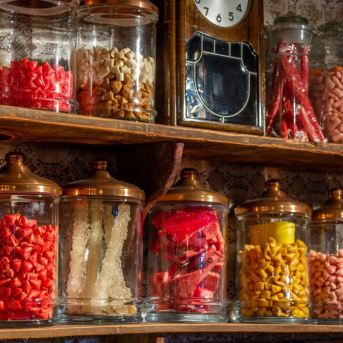 Old Candy Store Colorful Candies In Jars 1174876747