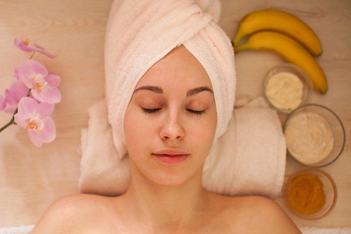 woman preparing for spa procedures