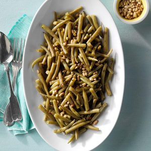 Oregano Green Beans with Toasted Pine Nuts