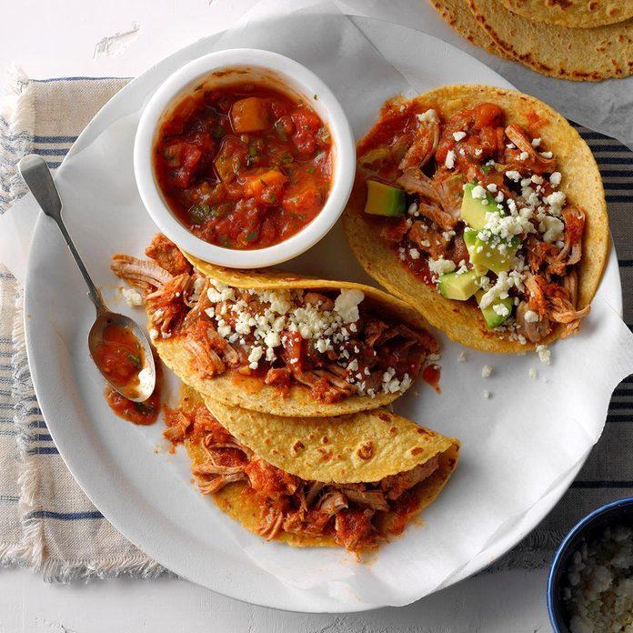 Instant Pot Pork Tacos with Mango Salsa