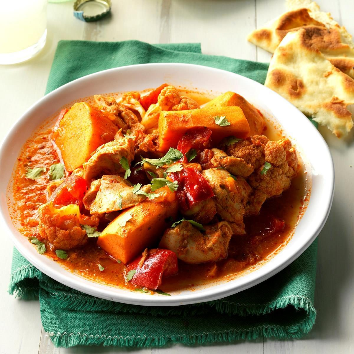Pressure-Cooker Indian-Style Chicken and Vegetables