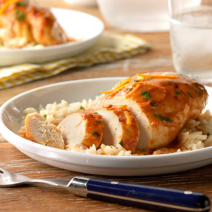 Pressure-Cooker Orange Chipotle Chicken