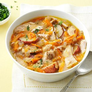 Pressure-Cooker Spring-Thyme Chicken Stew