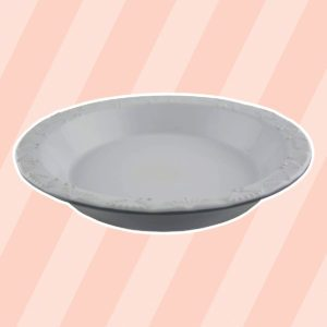 Taste of Home's 9 x 1.5 inch Stoneware Pie Plate
