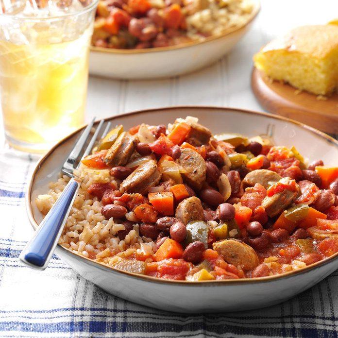 Instant Pot Cajun-Style Beans and Sausage