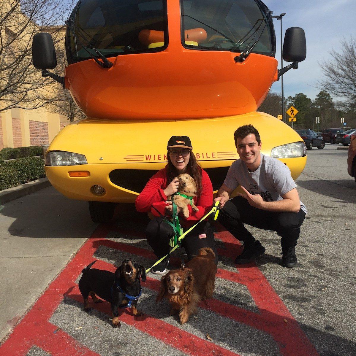 wienermobile with wiener dogs