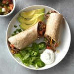 Pressure-Cooker Beef Burritos with Green Chiles