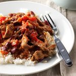 Pressure Cooker Beef and Beans