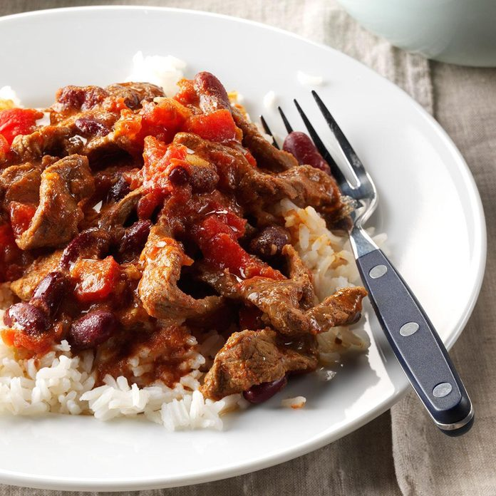 Pressure-Cooker Beef and Beans