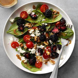 Blackberry Balsamic Spinach Salad