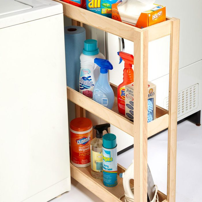 Skinny Laundry Room Cart