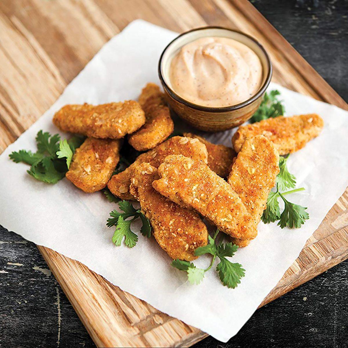 Gardein chicken tenders with sauce