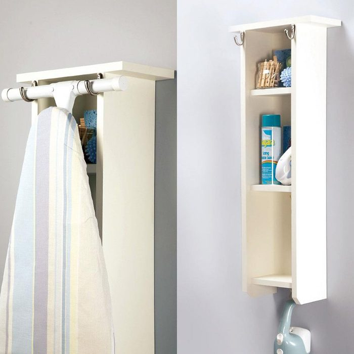 Ironing board holder center