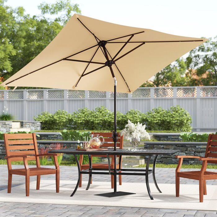 best patio furniture Arlmont Co Serena 10 X 6 5 Rectangular Market Umbrella