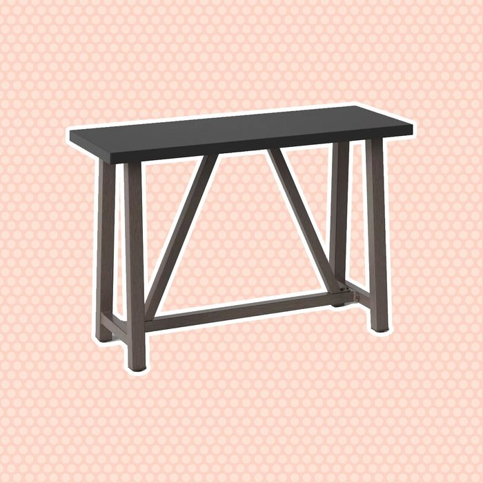best patio furniture Concrete 38 Faux Wood Patio Console Table Smith