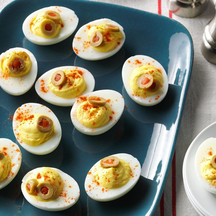 Pressure-Cooker Light Deviled Eggs