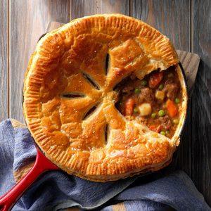Beef Stew Skillet Pie