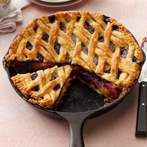 Cast-Iron Cherry-Berry Peach Pie