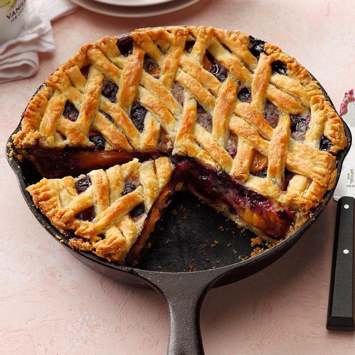 Cast-Iron Cherry-Berry Peach Pie