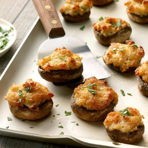 Crab Cake Stuffed Mushrooms