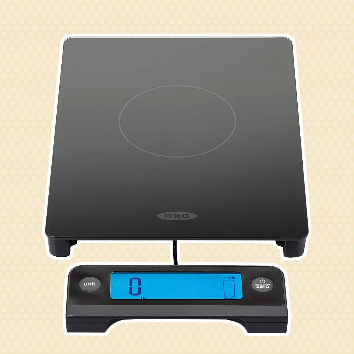 OXO 11176800 Good Grips Digital Glass Food Scale with Pull Out Display, 11 Pound, Black
