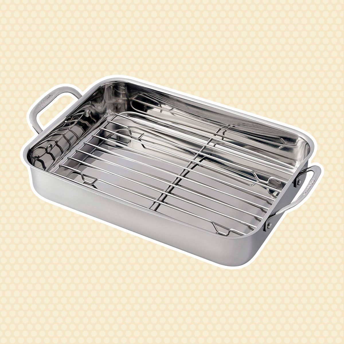 🔸Best Choice 7117-14RR Lasagna Pan with Stainless Roasting Rack
