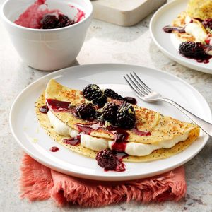 Lemon Blackberry Tortilla French Toast