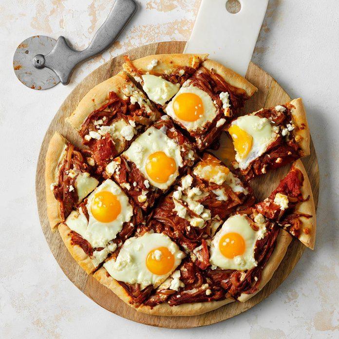 Shakshuka Breakfast Pizza