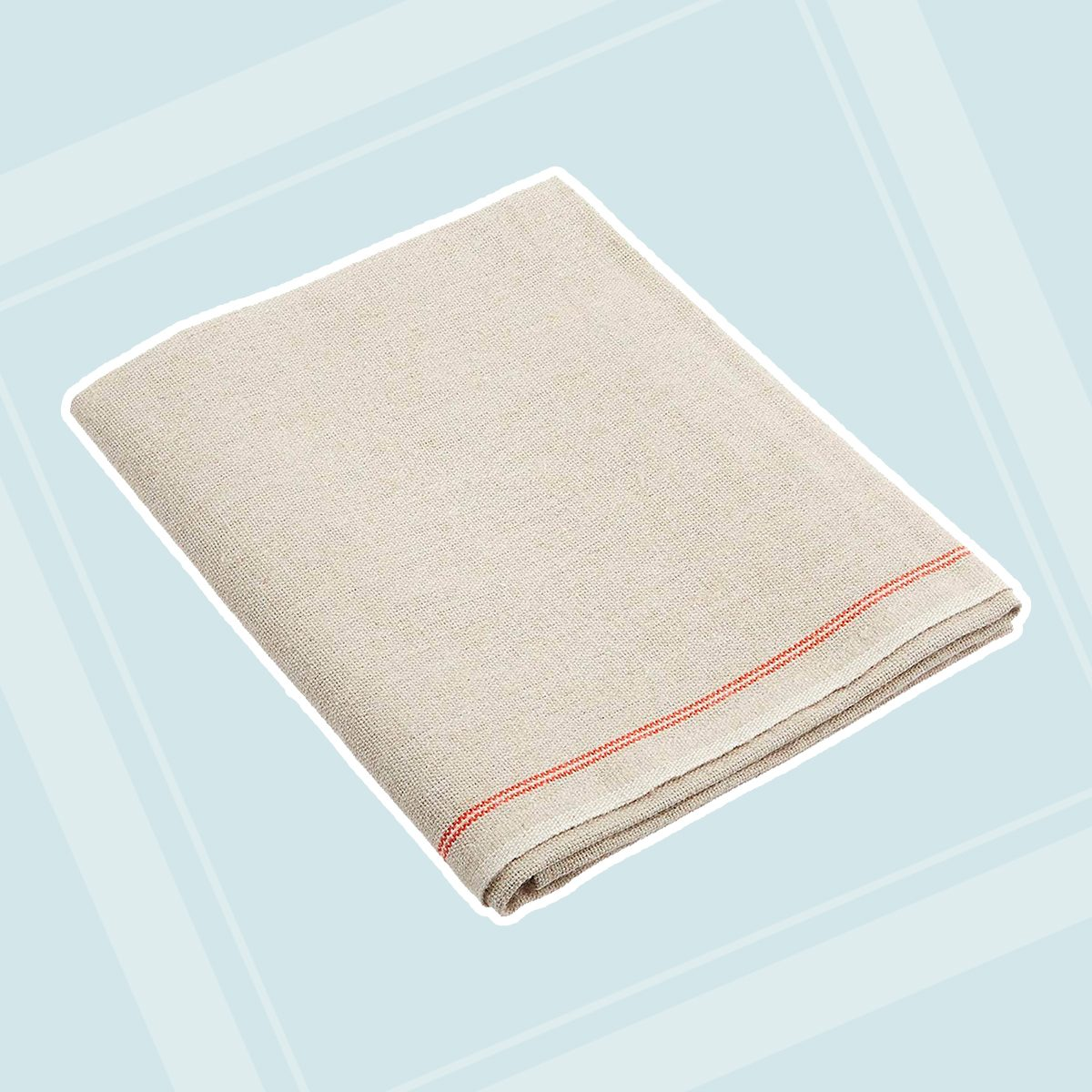 """Premium Professional Bakers Couche - 35""""x26"""", 100% Flax Linen Heavy Duty Proofing Cloth from Tissage Deren of France, with One Bonus Mure & Peyrot Fixed Blade Lame, by BrotformDotCom"""