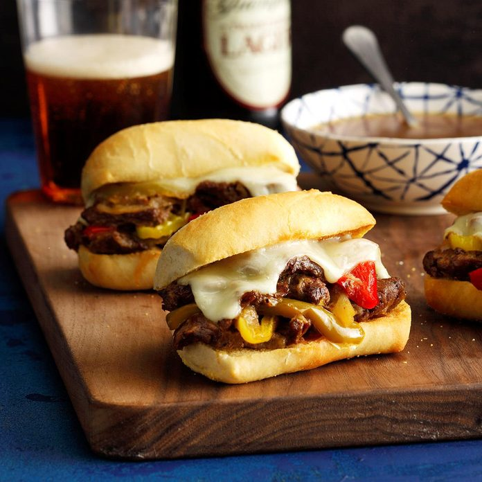 Instant Pot Philly Cheesesteak Sandwiches