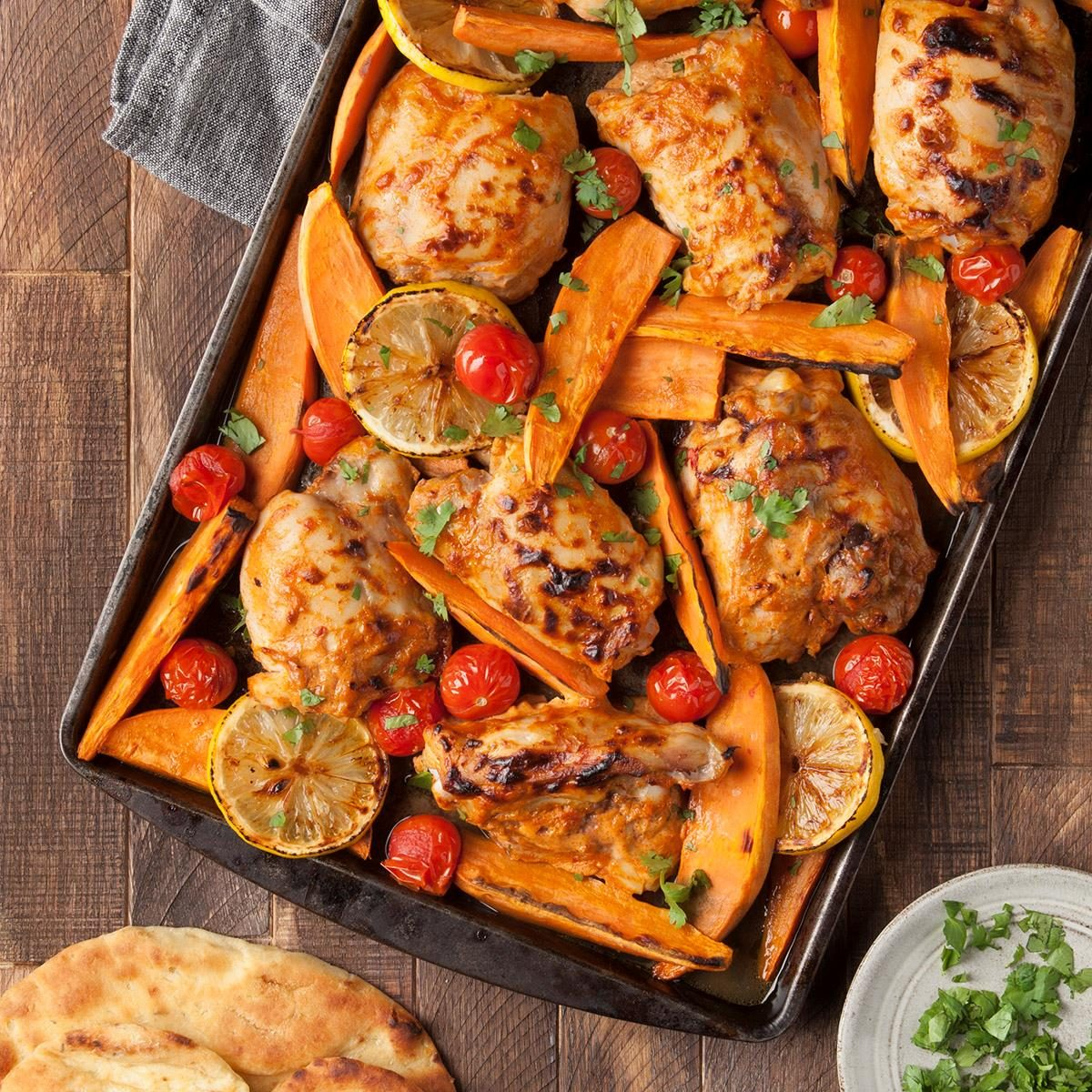 Thursday: Sheet-Pan Tandoori Chicken