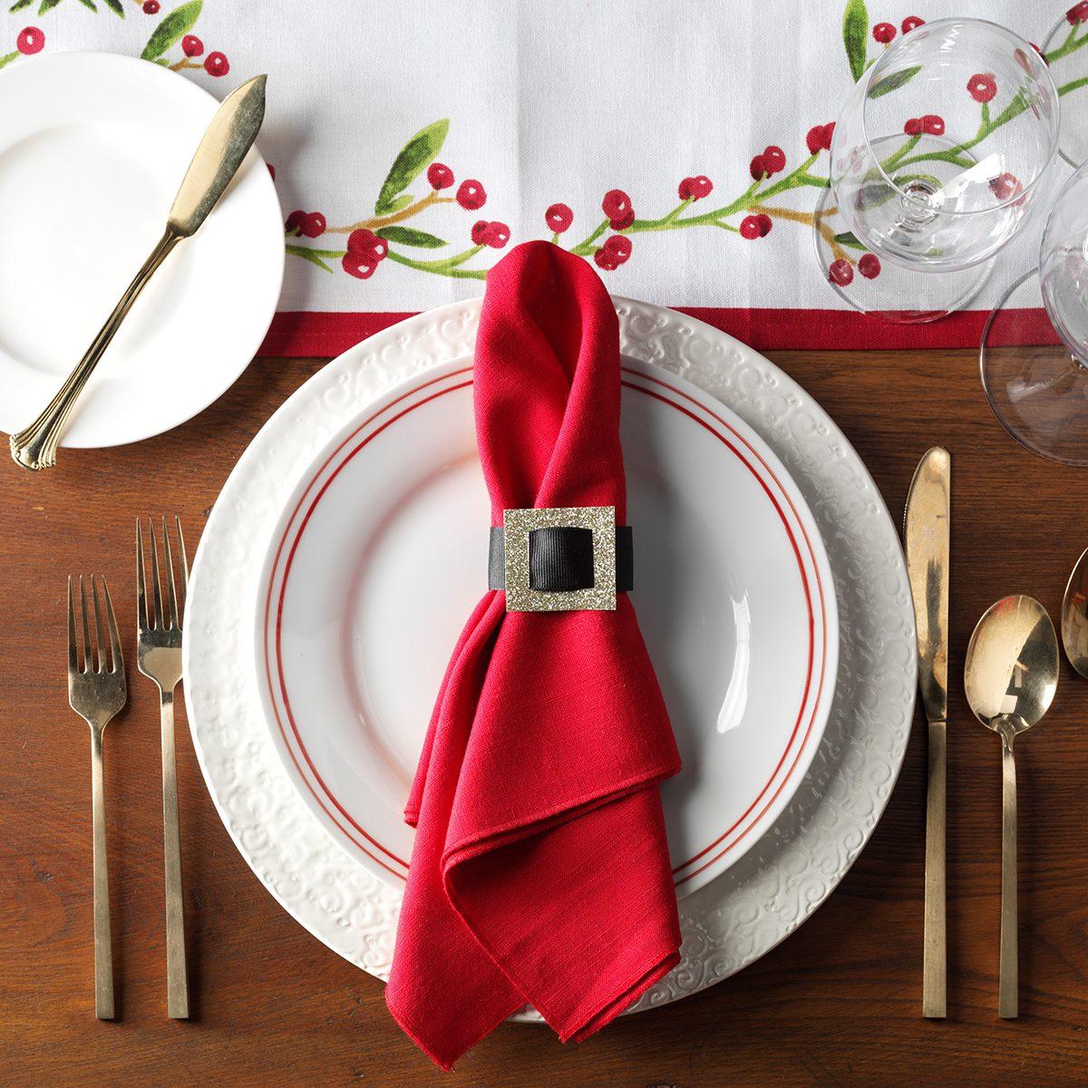Santa table setting